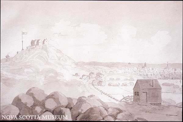 Town of St John 1817 by John E Woolford